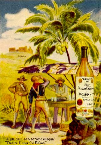 Bacardi Ad from 1950s